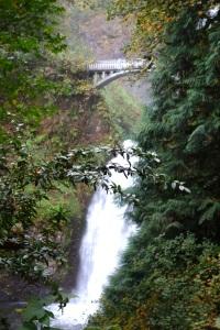 Multnomah Falls bridge.