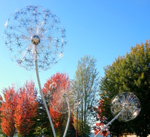 Coeur d'Alene artwork. These reminded me of my sister. Dandelions have always been our thing.