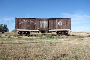 This was a few miles out of Reardon, WA. A beautiful old boxcar that caught my eye. This is where I noticed my license plate was gone; stolen by the Spokane freeway less than a half hour earlier. Great site to sit down and call a friend for advice.