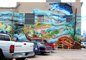 Getting lost in Laramie, WY lead to discovering this beautiful fish mural.
