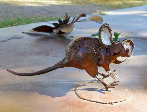 This mouse was a part of  the 'Woolly Rhinoceros' sculpture by Bill Ohrmann from Drummond, MT.