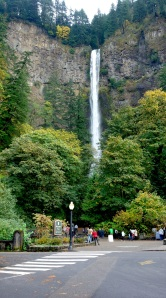Multnomah Falls in Portland, OR. Too lovely, but very busy.