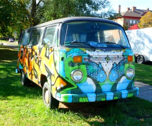 Missoula Phish van, front.