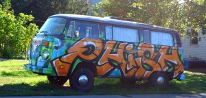 This Phish van may have proved to have been my favorite Graffiti in Missoula, MT.